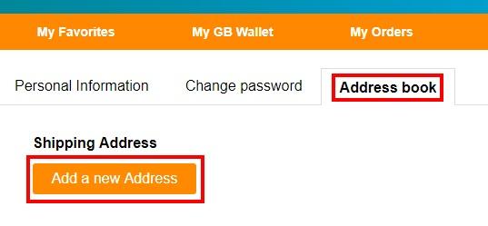 GearBestでアカウントを作成し、住所登録する手順08