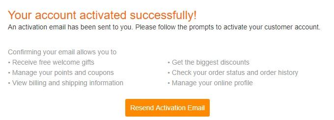 GearBestでアカウントを作成し、住所登録する手順04