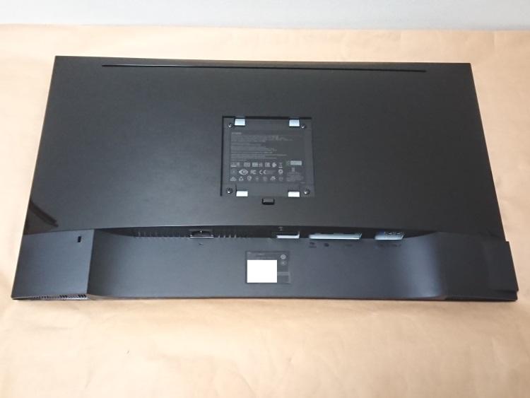Dell S2716DG本体背面の様子