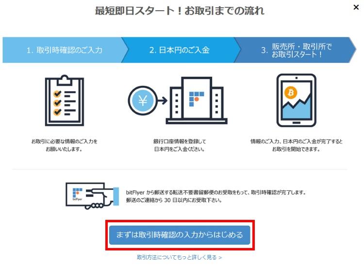 bitFlyerで仮想通貨用口座を登録・作成する方法(手順05)