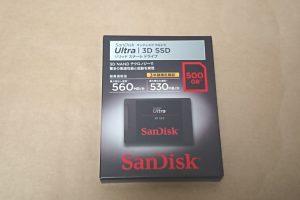 SanDisk Ultra 3D SSD SDSSDH3-500G-J25のパッケージ