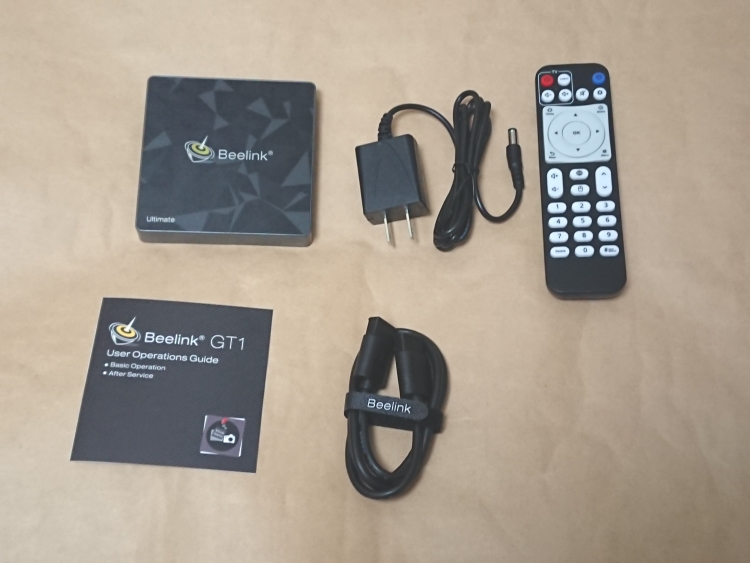 Beelink GT1 Ultimate Android TV BOXの製品内容(付属品)