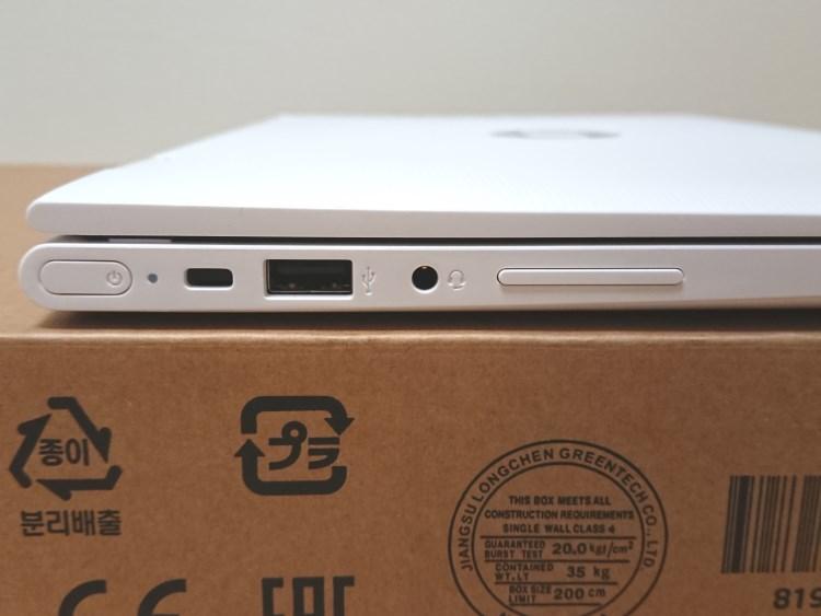 HP x360 11-ab051TU本体左側面