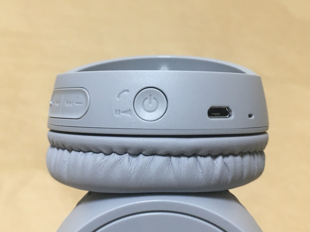 SONY WH-CH500のボタン・端子類