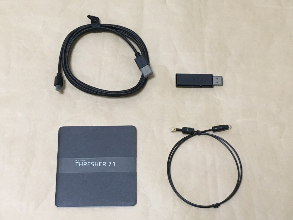 Razer Thresher 7.1の付属品