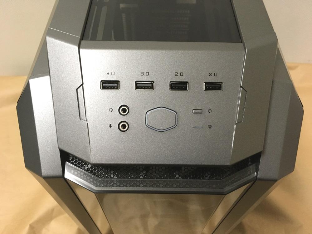 クーラーマスター MasterCase H500Pのアクセスポート類