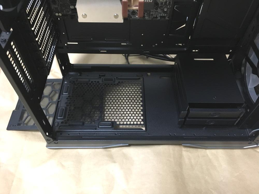 クーラーマスター MasterCase H500Pの底面ダストフィルター