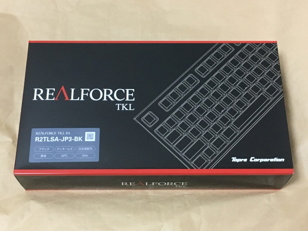 東プレ REALFORCE SA R2 R2TLSA-JP3-BKのパッケージ