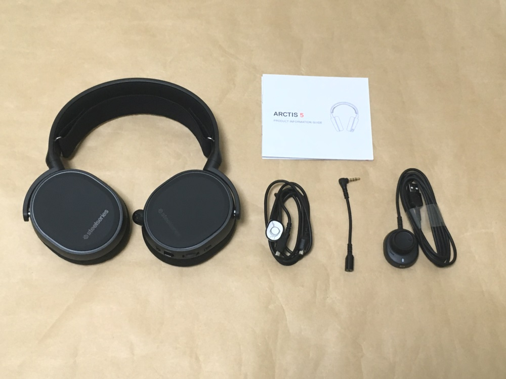 SteelSeries Arctis 5 2019 Editionの製品内容(付属品)