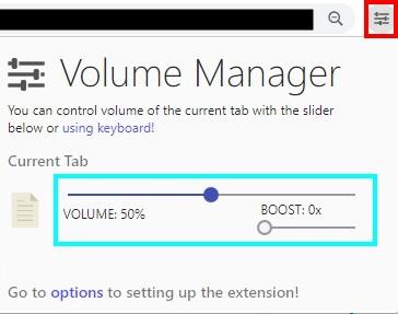 Chromeの拡張機能を使って音量をコントロールする方法(手順3)