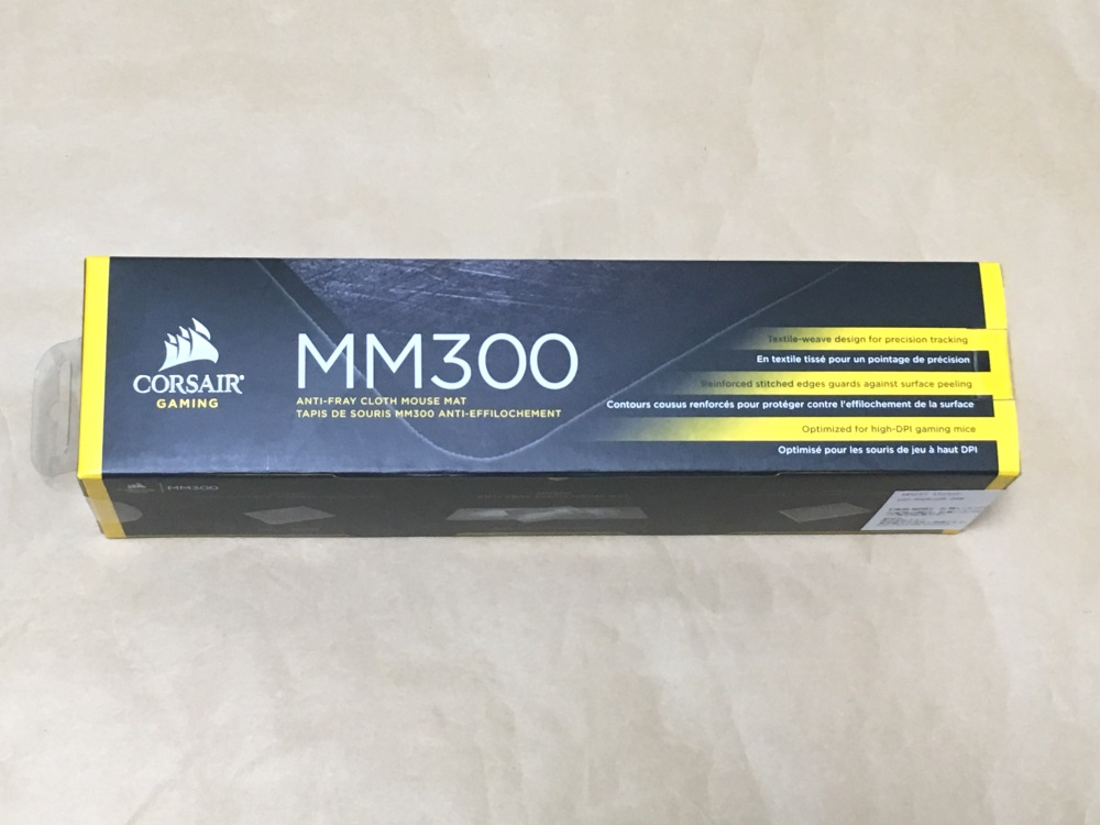 Corsair MM300 Mediumのパッケージ