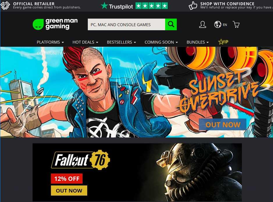 Green Man GamingでPCゲームを購入する方法(手順1)