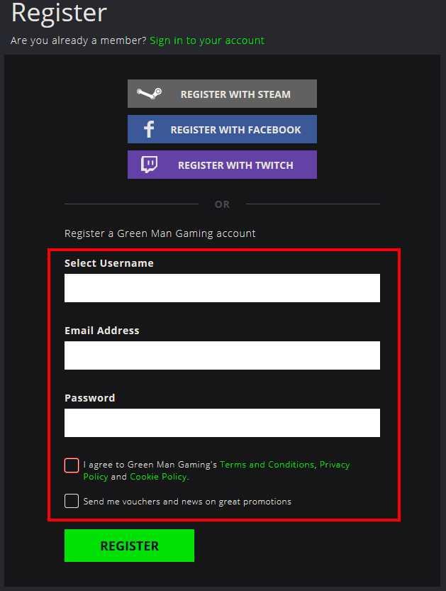 Green Man GamingでPCゲームを購入する方法(手順4)
