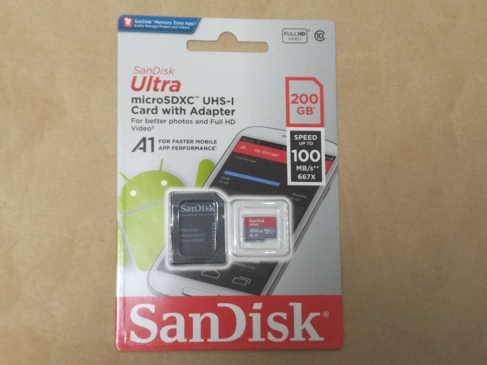 サンディスク SDSQUAR-200G-GN6MAのパッケージ