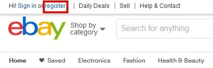 eBayアカウントの作成方法(手順02)