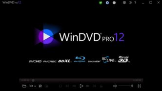 WinDVD Pro 12の起動画面