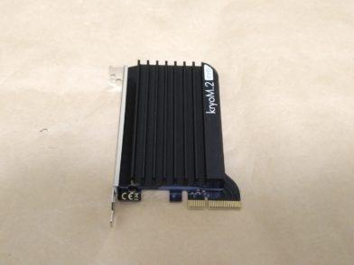 Aquacomputer kryoM.2 evoをレビュー!PCIeカード型のM.2 SSDヒートシンク