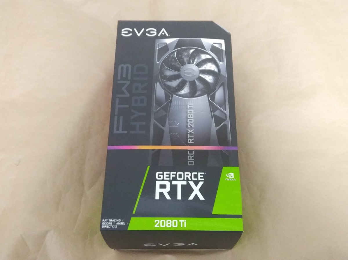 EVGA GeForce RTX 2080 Ti FTW3 ULTRA HYBRIDのパッケージ