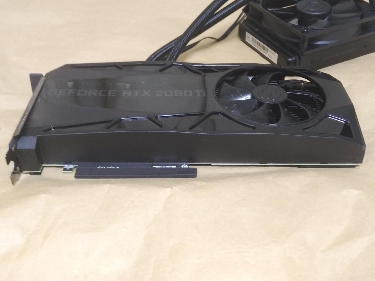 EVGA GeForce RTX 2080 Ti FTW3 ULTRA HYBRID本体下部の様子