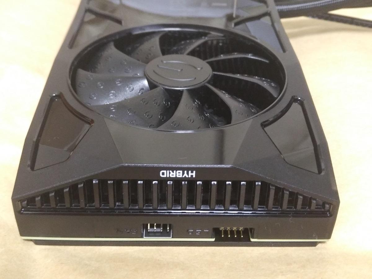 EVGA GeForce RTX 2080 Ti FTW3 ULTRA HYBRID本体後部の様子