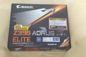 GIGABYTE Z390 AORUS ELITE Rev.1.0のパッケージ表側