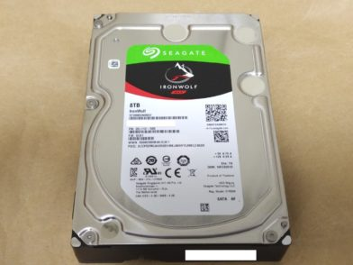 Seagate IronWolf 8TB ST8000VN0022をレビュー!3年保証なNAS向けHDD