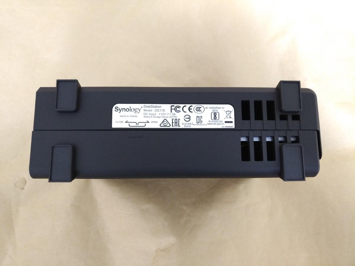 Synology DiskStation DS118本体底面