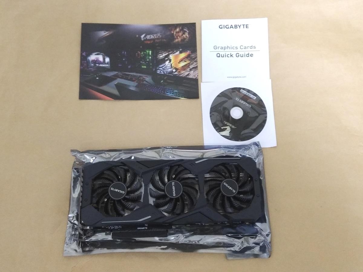 GIGABYTE GV-N2070WF3-8GCの製品内容(付属品)