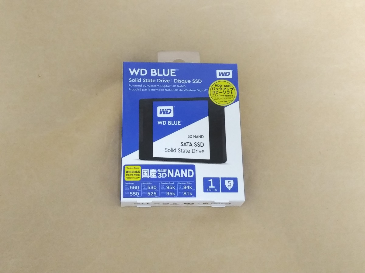 WESTERN DIGITAL WD Blue WDS100T2B0Aのパッケージ