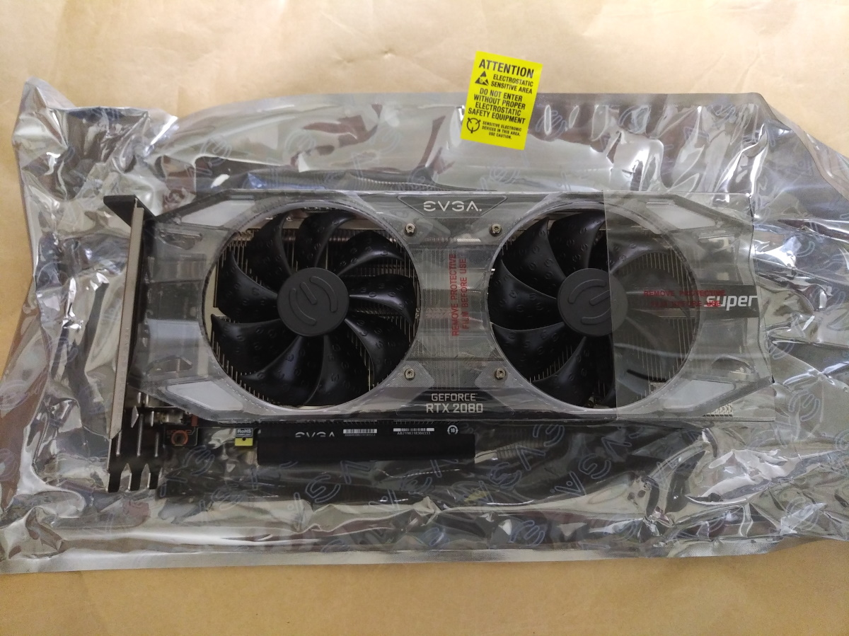 EVGA GeForce RTX 2080 SUPER XC ULTRA(保護シール付)