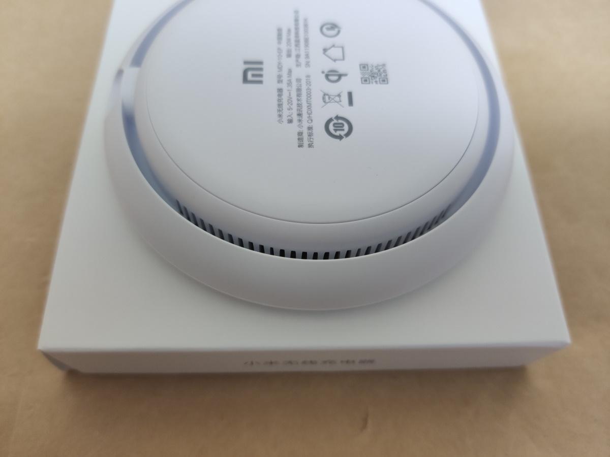 Xiaomi MDY-10-EP底面横にある通気用の穴