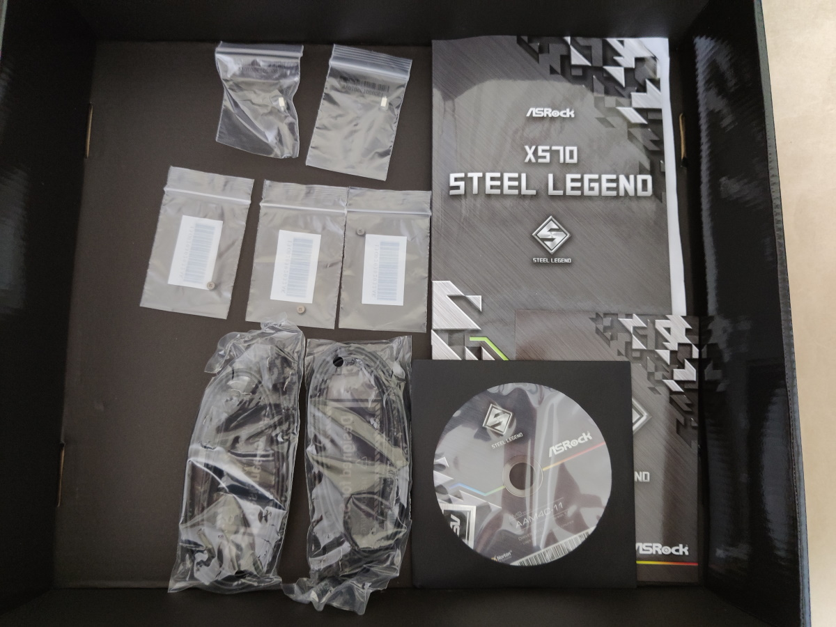 ASRock X570 Steel Legendの付属品