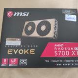 MSI Radeon RX 5700 XT EVOKE OCのパッケージ