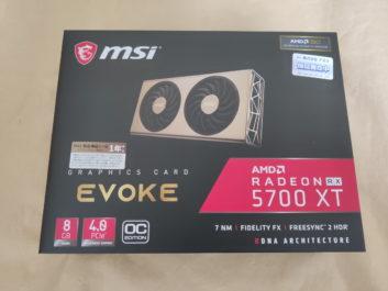 MSI Radeon RX 5700 XT EVOKE OCのレビュー!PCIe4.0対応のビデオカード