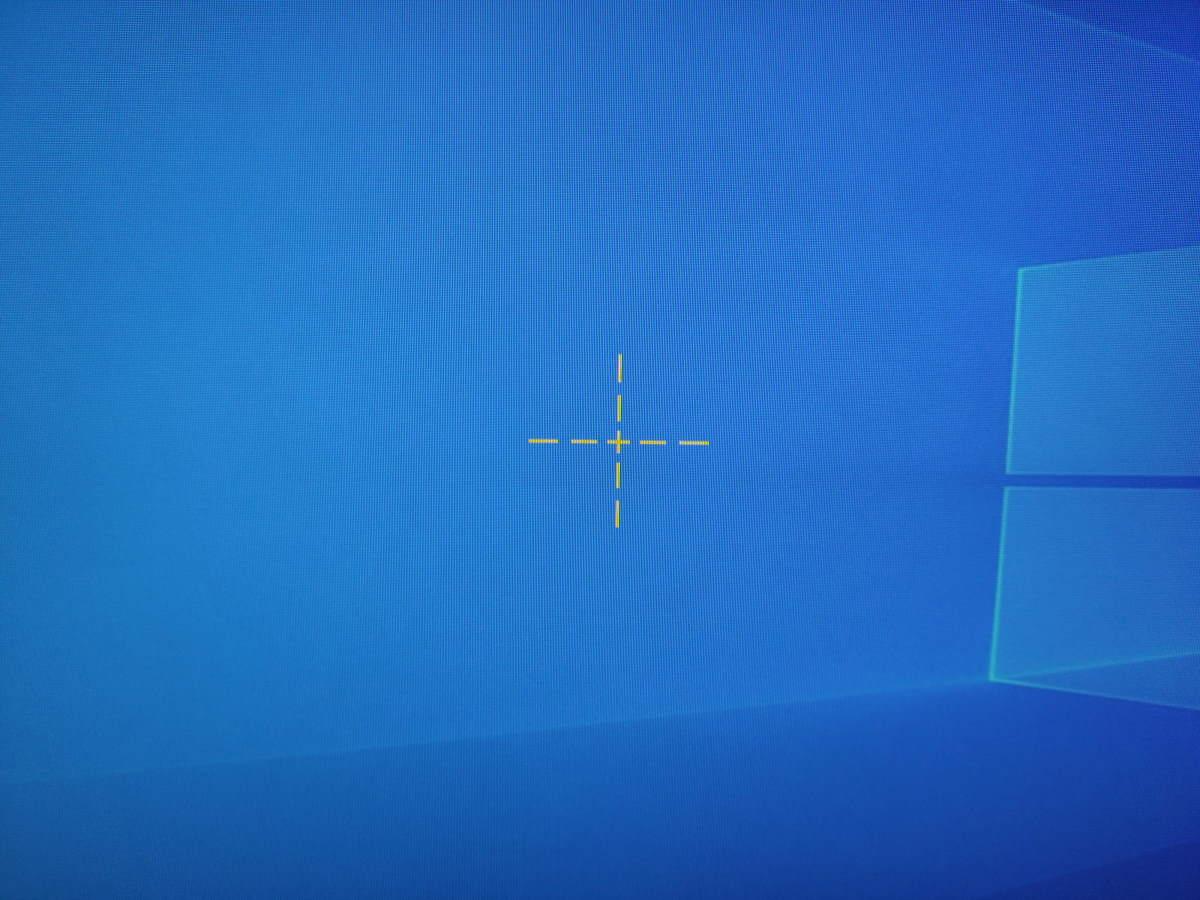 Pixio PX5 HAYABUSA2の照準を表示した様子(形状3)