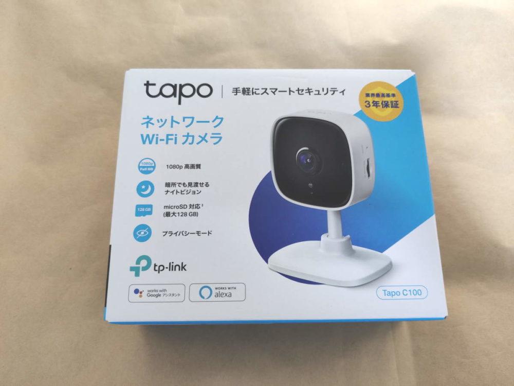 TP-Link Tapo C100のパッケージ表側