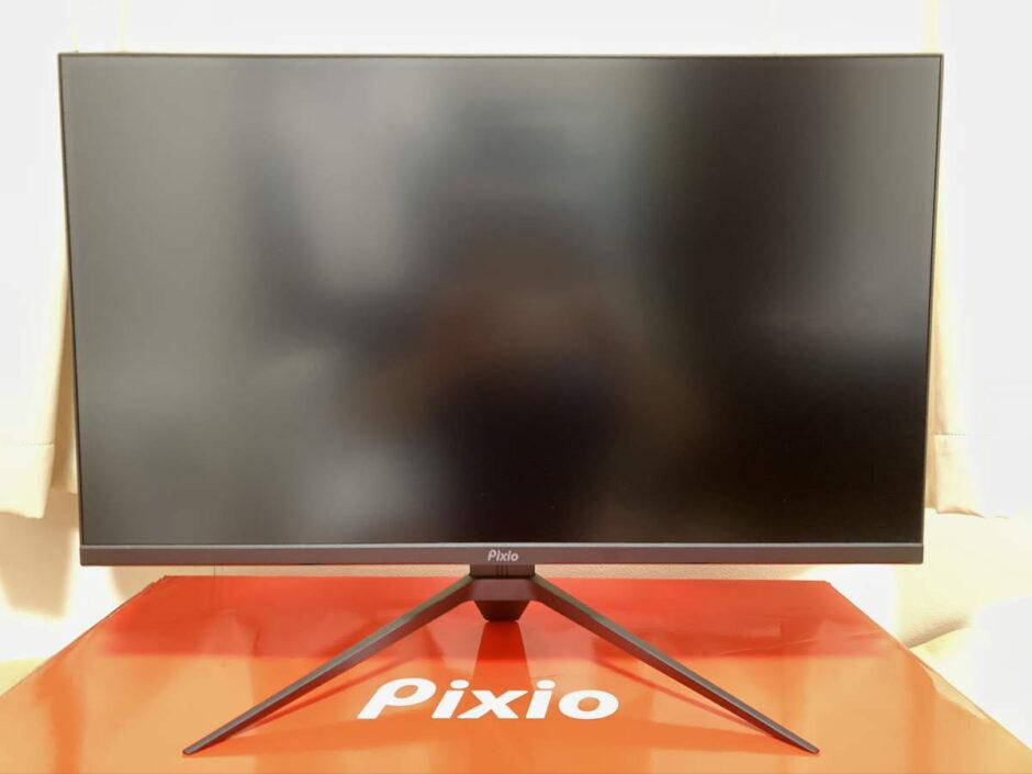 Pixio PX277 Prime(PX277P)を正面から見た様子