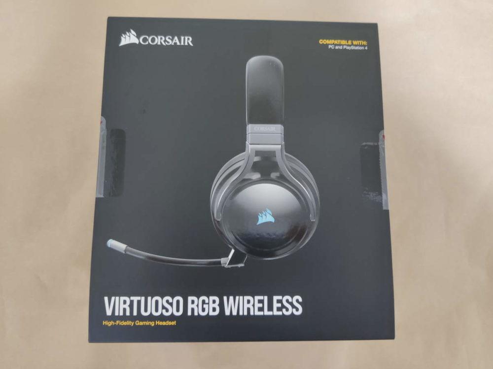 Corsair VIRTUOSO RGB Wirelessのパッケージ表側