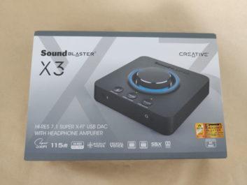 CREATIVE Sound Blaster X3のレビュー!ハイレゾ対応のゲーミングUSB DAC