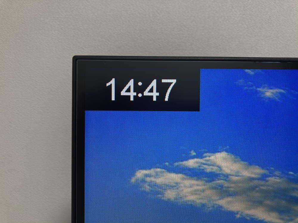 Pixio PX279 Prime(PX279P)のOSDメニューでタイマーを表示した様子
