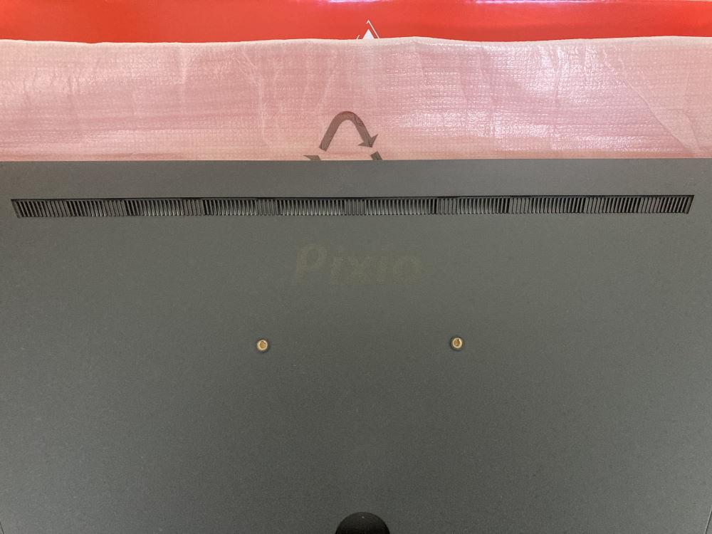 Pixio PX248 Primeの背面にある排熱スリット