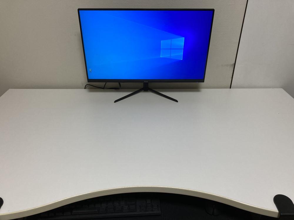 Pixio PX248 Primeを机に設置した様子