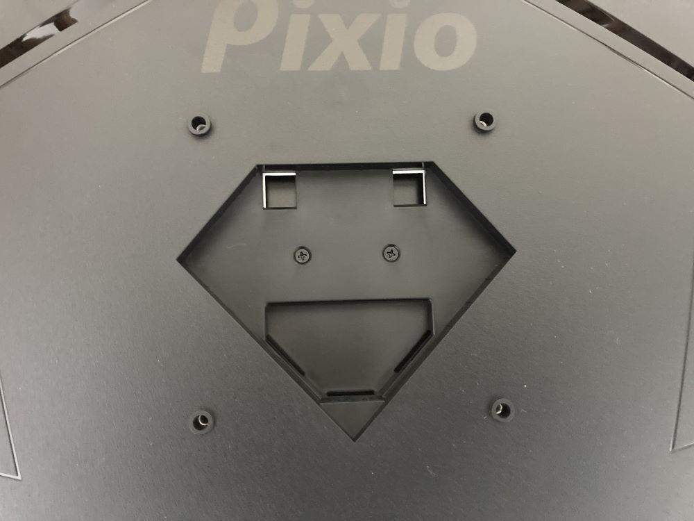 Pixio PXC327のスタンド取付部