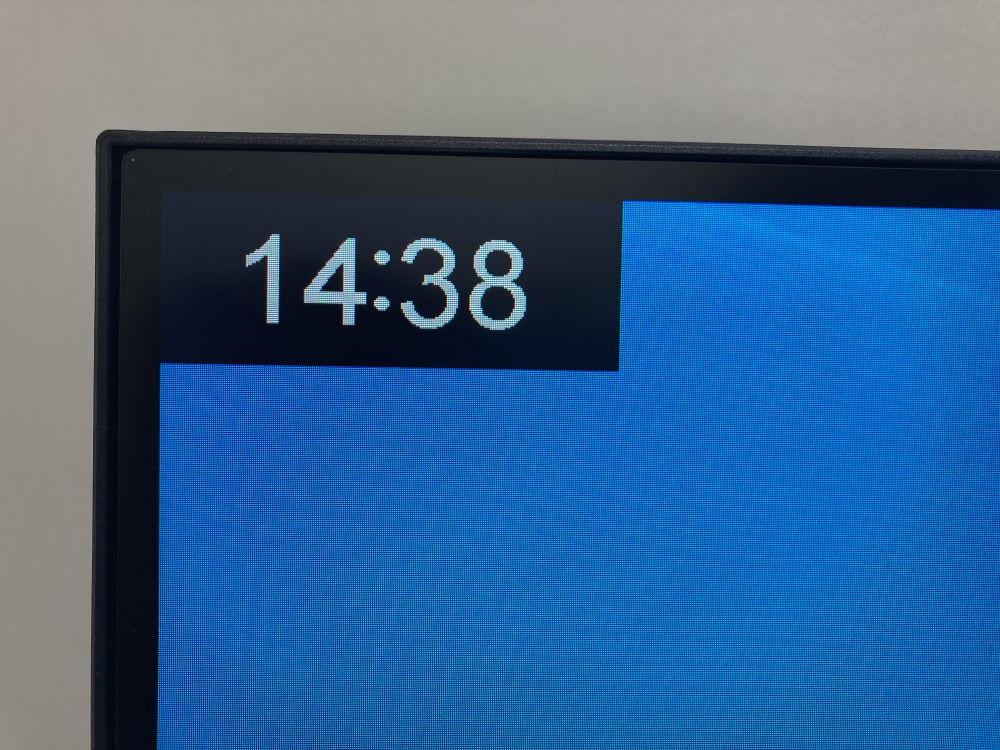 Pixio PXC327のタイマーを表示した様子