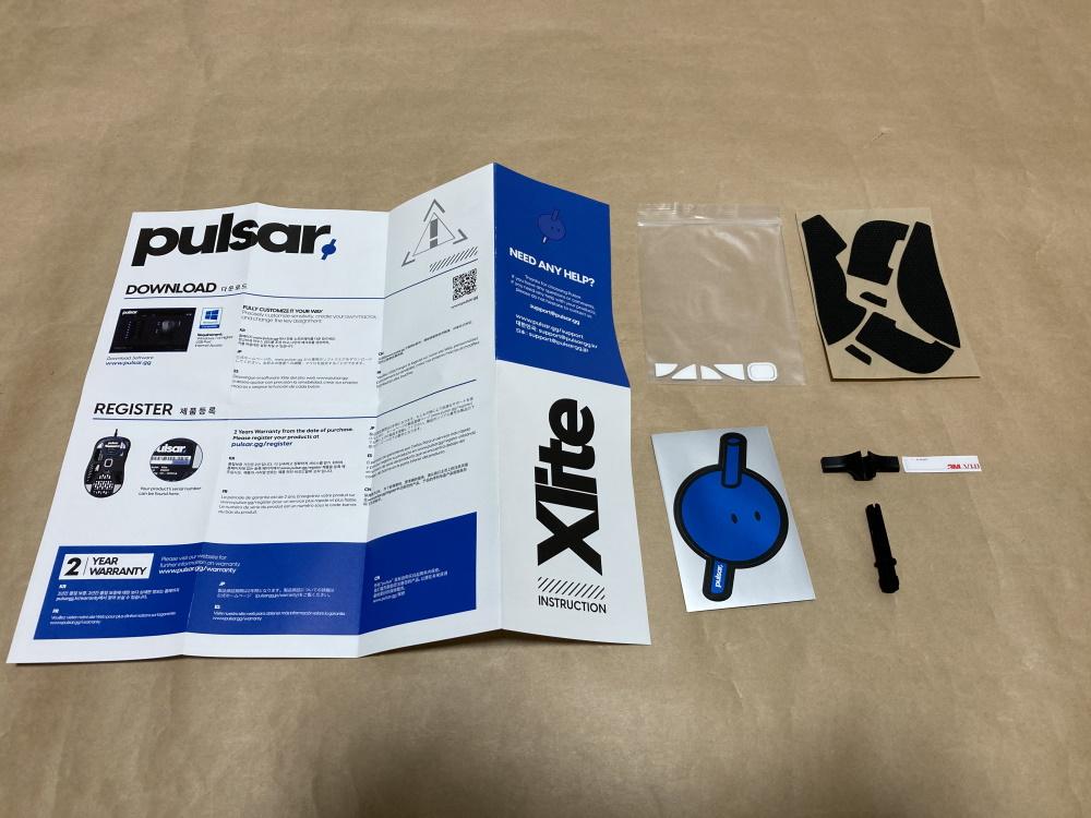 Pulsar Xliteの付属品一覧
